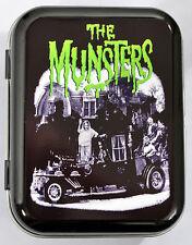 MEET THE MUNSTERS VINTAGE BMOVIE MONSTER VAMPIRE WEREWOLF HINGED TOBACCO TIN