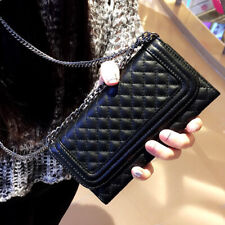 Wallet Leather Case Women's Bags with Crossbody Chain for iPhone X XR MAX 6 7 8
