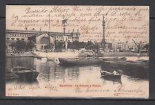 POSTAL DE BARCELONA CIRCULADA EN EL AÑO 1903 (LA ADUANA Y PUERTO)