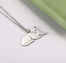 Cat Necklace Silver Animal Pendant Necklace For Women Fashion Gift Jewellery