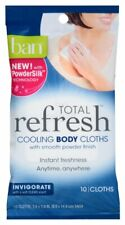 Ban Total Refresh Cooling Body Wipes with Powdersilk Tech 10 Cloths Clean Scent