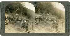 Alaska ~ INDIANS DRYING FISH ON THE YUKON RIVER ~ Stereoview 11518 ve244d fx