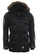 Geographical Norway Cálido forrado hombre Alaska chaqueta de invierno Parka S negro Donone