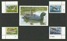 TURKS & CAICOS IS, SHORT SET(4) 1990 BIRDS ISSUE MNH PLUS M/S
