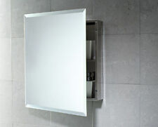 Specchio Contenitore Bagno 51x60 con Anta Reversibile Acciaio Inox/Vetro GEDY