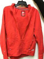 Nike Sportswear Tech Fleece Women's Full Zip Hoodie Red/White 806329-016 Size M