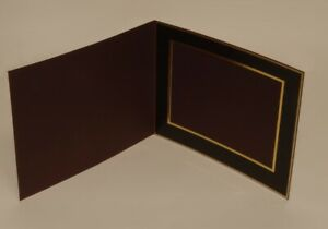 Denis Wright 78 series  12x10 Slip In Photo Mounts BURGUNDY - Landscape- 25 Pack