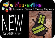 Strong lightweight harness Vest/ Service Dog - Assistance Dog -  Vest Green