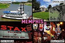 SOUVENIR FRIDGE MAGNET of MEMPHIS TENNESSEE USA