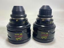 Cooke SK4 Prime Lenses 9.5 and 12mm - 16mm/Super16