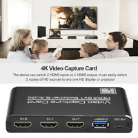 HDMI to USB3.0 Video Capture Card 4K 1080P 60Hz Game Streaming Live Recorder Box