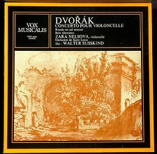 Dvorak Zara Nelsova Walter Susskind Concerto cello, Bois silencieux LP M, CV EX