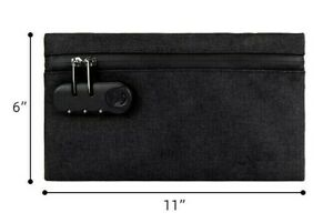 SNIFFY SMELL PROOF CARBON LINED BAG WITH CHILD LOCK - WATER RESISTANT 10X6 IN