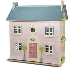 Le Toy Van Bay Tree Doll House, Kids Deluxe Wooden Pink Dolls House