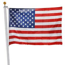20ft Sectional Flag Pole Ball Top Kit 16 Gauge & 3'x5' Free US American Flag Kit