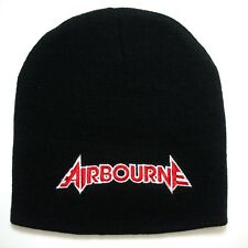 AIRBOURNE embroidery Beanie hat  (red logo) official   Music Band .