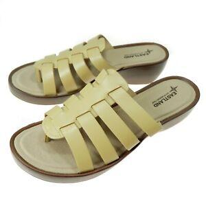 Eastland Womens Sandal Size 12 M Memory Foam Topaz Wedge Thong Tan Beige NEW