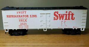 Life-Like SWIFT REFRIGERATOR LINE SRLX 1020 Refrigeration Car HO Scale White