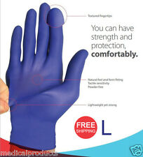 1000/Cs Nitrile Disposable Gloves Powder Free (Non Latex Vinyl Exam) Size: Large