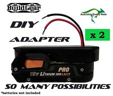 2 x DIY Project 18v AEG Battery Adapter