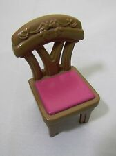 FISHER PRICE Loving Family Dollhouse DINING KITCHEN CHAIR Brown Pink Rare