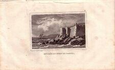 Corsica Corse France Entrée du port de Bastia ACCIAIO CHIAVE gravure de fer 1850
