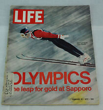 Life Magazine. February 18, 1972. - OLYMPICS one leap for Gold at Sapporo.