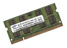 2gb RAM ddr2 800mhz para Samsung notebook serie R r710 de memoria SO-DIMM
