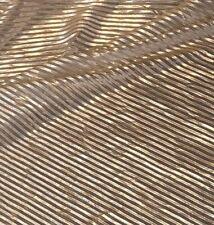 "1 X Meter Light Gold Metallic Pleated Lame Fabric Lycra Strech Dress Fabric 58"""