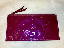 LOUIS VUITTON Felicie Insert Zip Coin Pouch VERNIS Shine Magenta MADE IN FRANCE