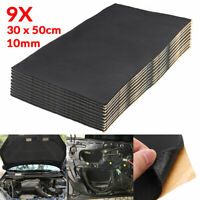 9x 10mm 30x50cm Car Sound Noise Deadening Heat Proof Shield Insulation Foam Pad