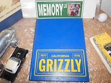 ORIGINAL 1977-1978 CALIFORNIA HIGH SCHOOL YEARBOOK/ANNUAL/JOURNAL/SAN RAMON CA