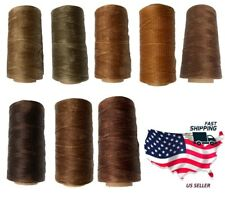 0.8mm 284Yards Brown Colors Flat Waxed Thread Leather Hand Sewing Stiching Cord