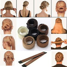 Womens Hair Accessory Styling Donut Former Foam French Twist Magic Bun Maker