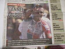 PHILIPPE GILBERT : CHAMPION DE BELGIQUE - 27/06/2011
