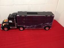 Semi Trailer Truck Die Cast Car Carrier. Holds 24+ cars. Both Sides Open