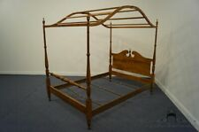 ETHAN ALLEN Heirloom Nutmeg Maple Colonial Style Full Size Canopy Bed 10-5622