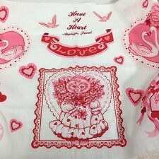 Older  Have A Heart Valentine's Day Applique Sewing Fabric Panel T3