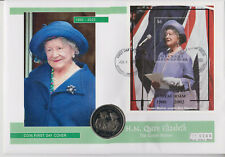 More details for mercury grenada grenadines pnc coin cover 2002 queen mother gibraltar crown 0168