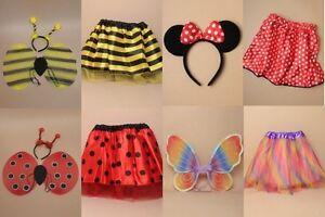 Ladybird Bumble Bee Tutu Fancy Dres Wings Deeley Bopper Costume Book Day Minnie