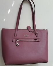 New COACH 38312 Pebbled Leather Taylor Tote in Primrose Pink $275