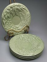 "Set Of 4 Majolica 7.5"" Plate Porta Made In Portugal New"