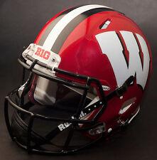 Wisconsin Badgers Ncaa Riddell Speed Full Size Authentic Football Helmet