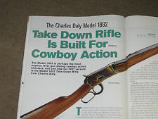 SHOOTING TIMES TESTS THE CHARLES DALY 1892 RIFLE + RUGER 22-45 PISTOL