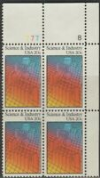 Scott# 2031 - 1983 Commemoratives - 20 cents Science and Industry Plate Block