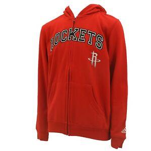 Houston Rockets Kids Youth Size Official NBA Adidas Zip Up Sweatshirt New