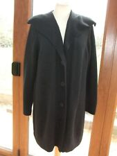 M&S Black Wool Blend long Cardigan /Jacket ~ Size 16 ~  a3