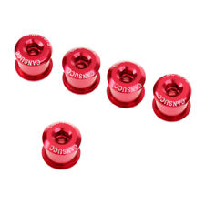 5Pcs Bicycle Crank Arm Bolts Cnc Single/Double Chainring Crankset Screw Red