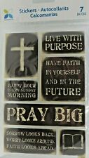 Have Faith Pray Cross Bible Religious Phrases Distressed RARE Momenta 3D Sticker