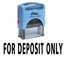 For Deposit Only Self Inking Rubber Stamp Custom Office Stationary Shiny E75c